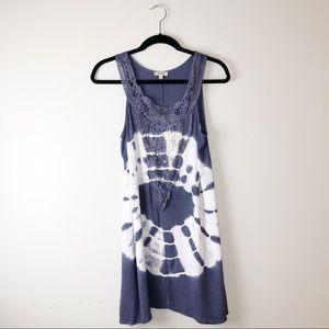 KORI America | Purple Shibori Dyed Boho Dress